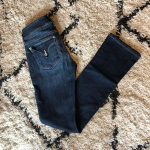 Hudson Kick Boot Jeans 24 Dark Wash